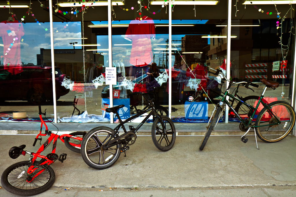 Three-bikes-outside-store--Williston