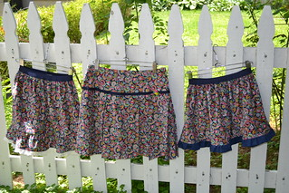 3 Corduroy skirts in size 6X, 12 & 6