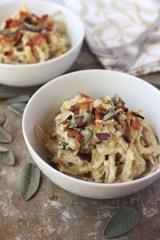 "Sweet Potato Noodles with Sage ""Cream"" Sauce"