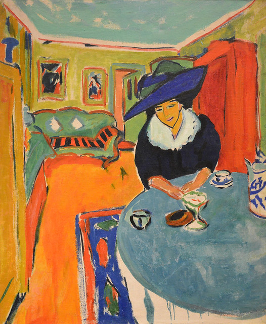 Dodo at the Table (Interior with Dodo), 1909, Ernst Ludwig Kirchner