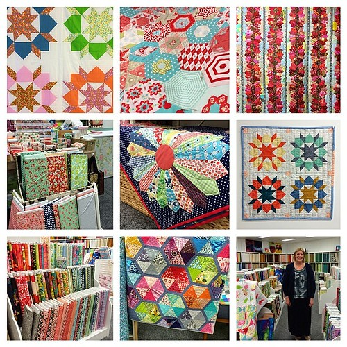 A few details in @kimbradleycreations beautiful shop! Gorgeous! #redletteraustralia #quiltabout