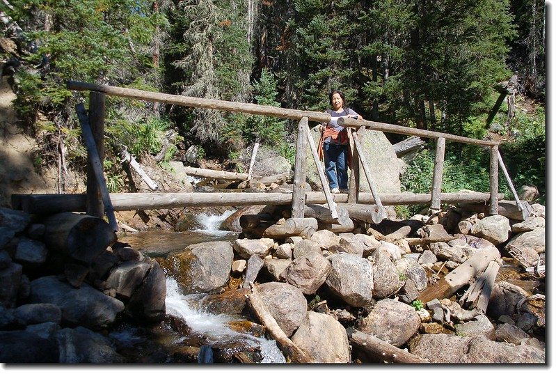 A bridge crossing over Arapaho Creek