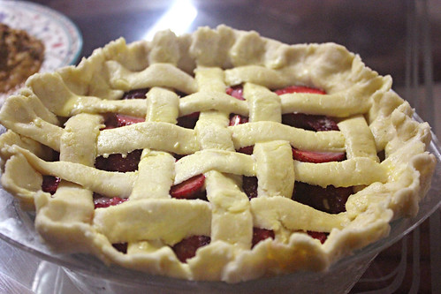 Strawberry Lattice Pie 4