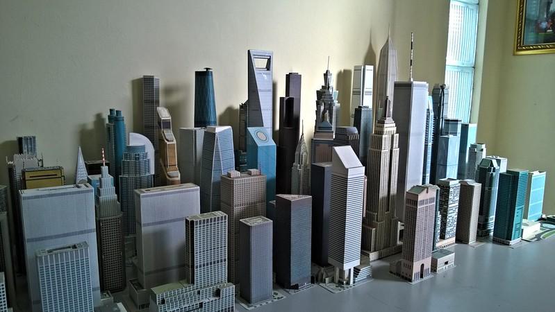 Paper skyscraper models