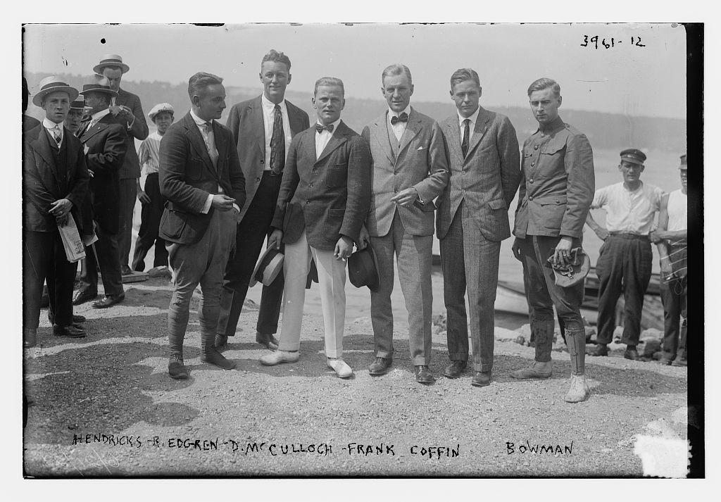Hendricks, B. Edgren, D. McCulloch, Frank Coffin, Bowman (LOC)