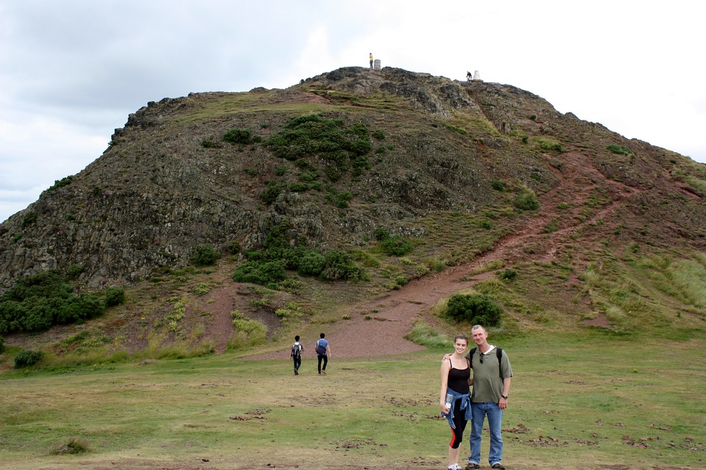 Edinburgh Arthur's seat almost to the tip top