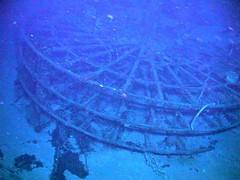 SS Central America paddlewheel