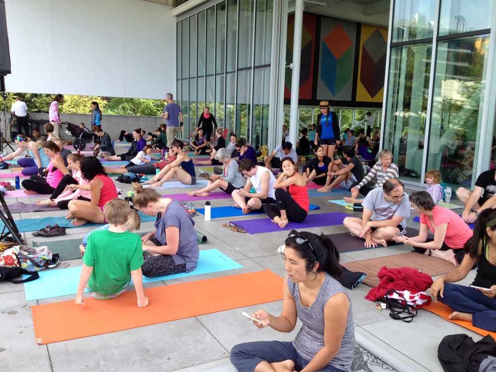 yoga at Olympic Sculpture Park 1