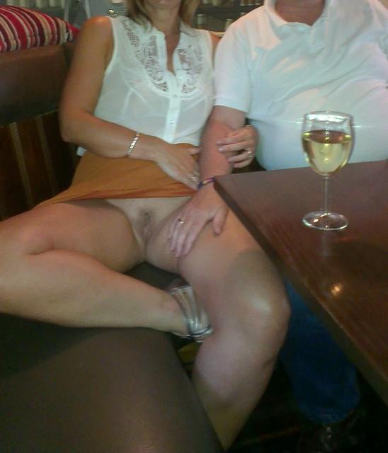 Upskirt at a bar pics-1651