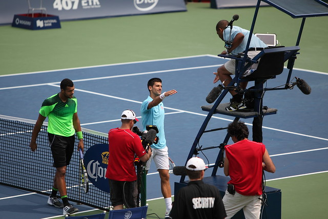 Jo-Wilfried Tsonga and Novak Djokovic