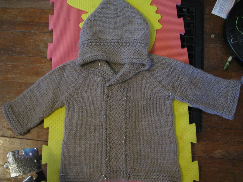 finished latte baby coat