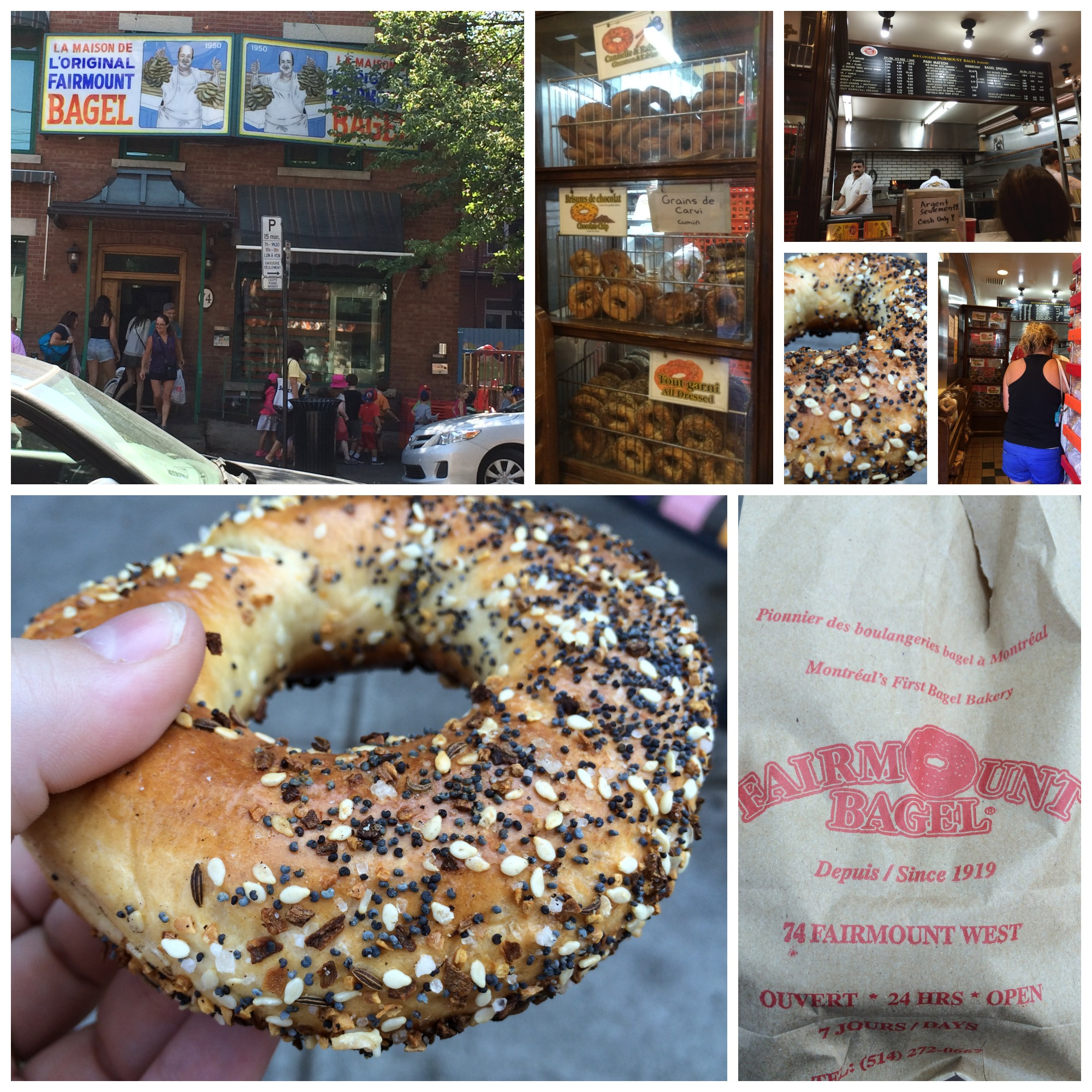 Fairmount Bagel Collage