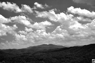 Smoky Peaks and Sky BW | by GT.PHOTOS