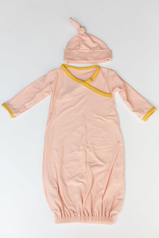 kimono style newborn gown