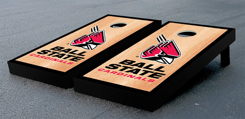 Ball State Cardinals Cornhole Bag Toss Game Set Hardcourt
