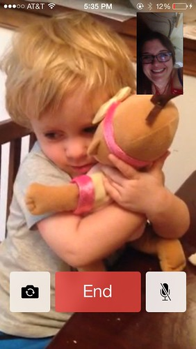 New Baby on FaceTime with Mummy
