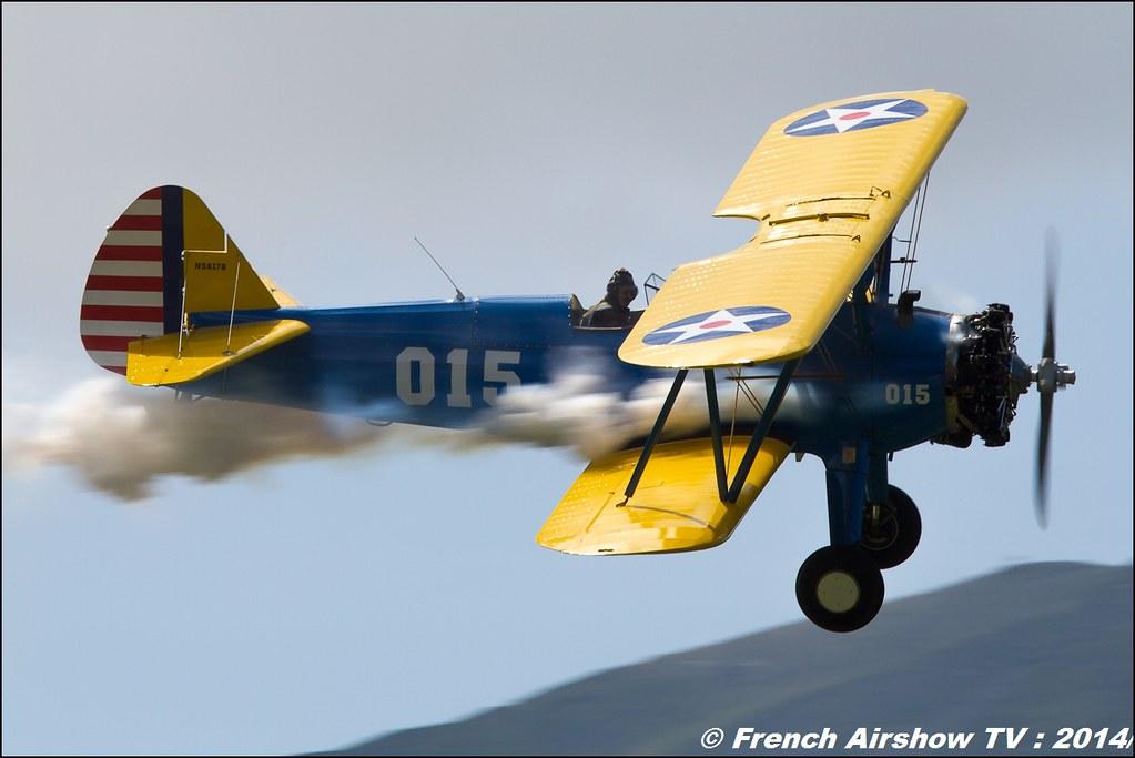 Stearman Roanne , PT-17 N56178 , Meribel airshow 2014
