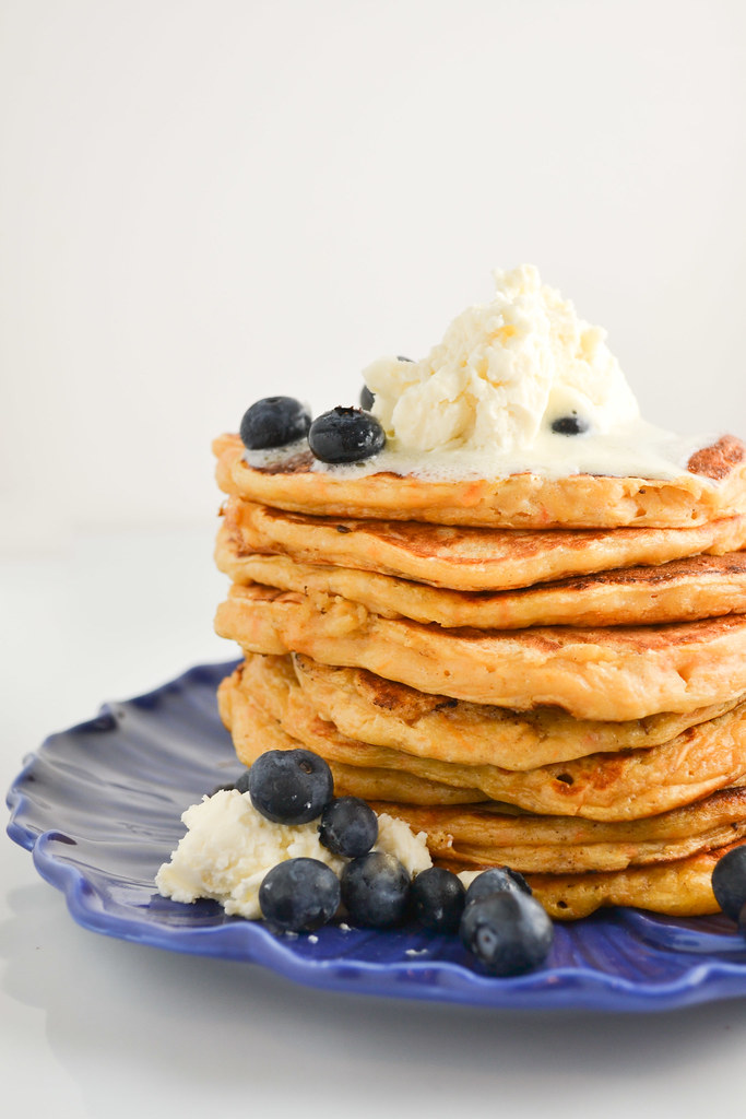 Sweet Potato Oatmeal Pancakes with Mascarpone Cream | Things I Made Today