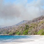Daytime Forest fire, on Playa Cabuyal, Guanacaste, Costa Rica