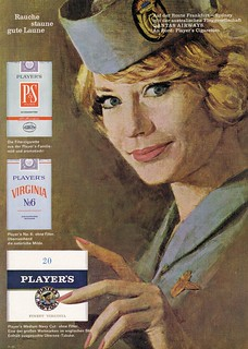 Virginia Players (1954) Zigaretten P&S  Virginia No. 6  Medium Navy Cut - QANTAS AIRWAYS