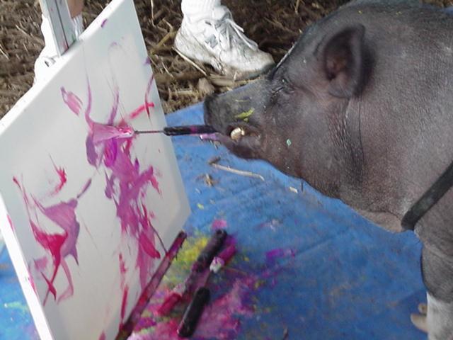 Smithfield painting pig