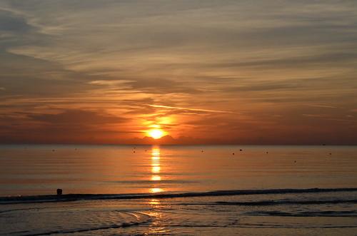 beach sunrise alba spiaggia riccione