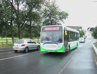 TrawsCymru T1 Enviro 200 bus in Aberystwyth