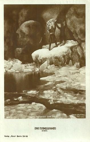 Die Nibelungen: Hagen drowns the treasure