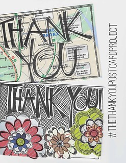 The thank you postcard project