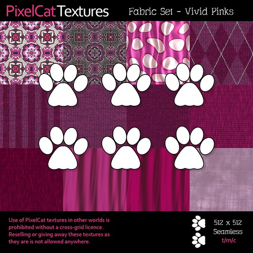PixelCat Textures - Fabric Set - Vivid Pinks