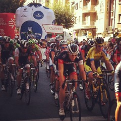 #lavueltapeleton during stage 12 in #logroño