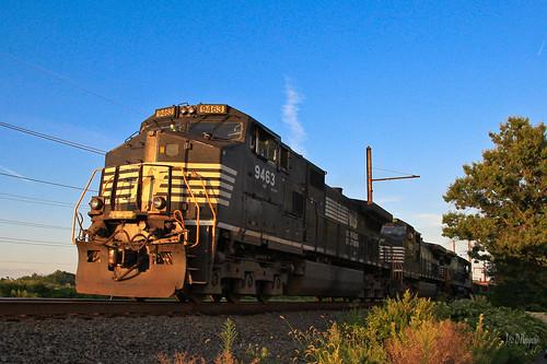 sunset ns trains ge norfolksouthern langhorne dash9 17g cpwestlang trentoncutoff