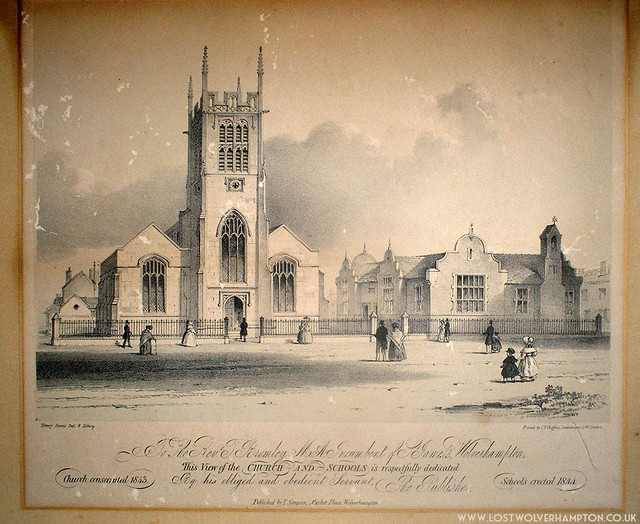 A nineteenth century of engraving of St James Church.