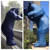 I bought the replica of 'I See What You Mean,' left, at the Denver Art Museum. It's a miniature version of the giant blue bear sculpture peeking into the lobby of the Colorado Convention Center. The iconic landmark, the work of local artist Lawrence Argen