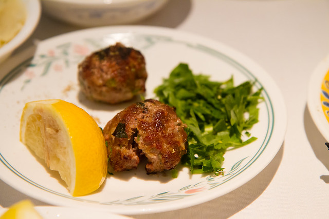 Lamb meatballs, Zenon Taverna