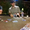 Garden poker party lighting w/#pabst product placement; looks like a friggin' sitcom set