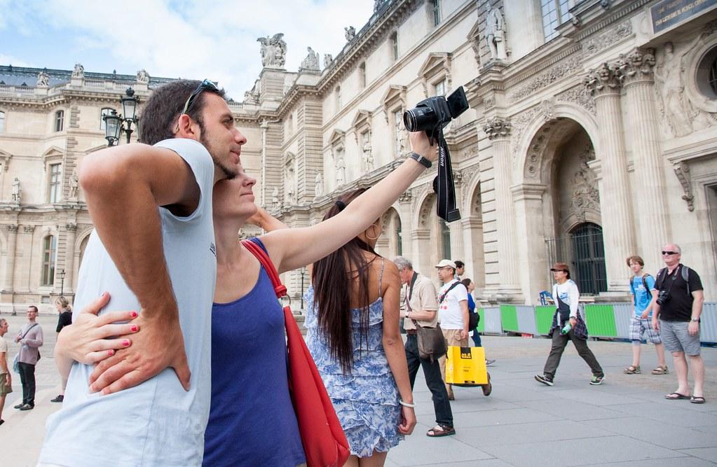 Selfie Louvre