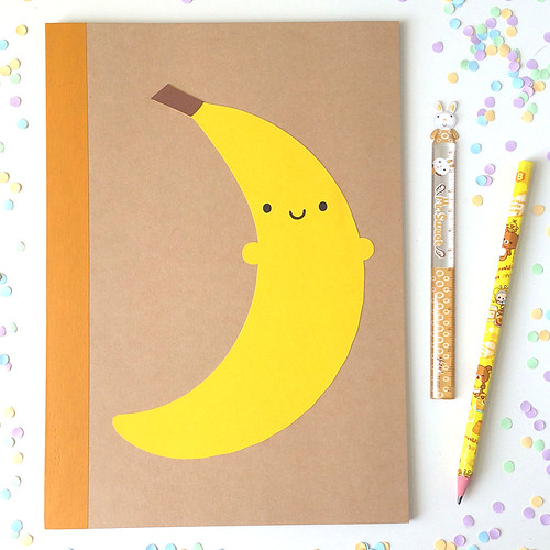 Happy Banana Paper-cut Notebook