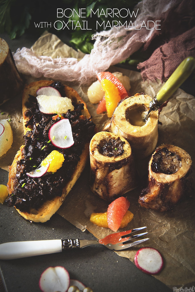 Bone Marrow with Oxtail Marmalade \\ GirlCarnivore.com