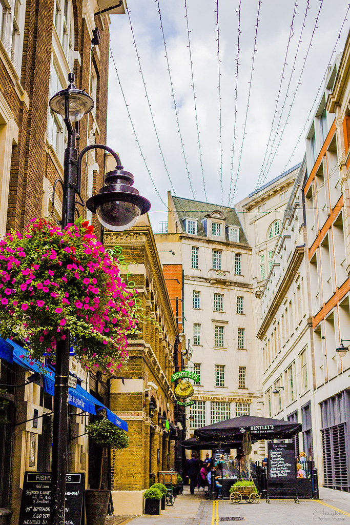 Pretty streets in London