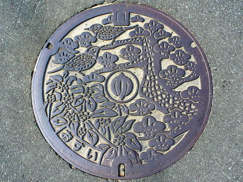 Ota Fukui, manhole cover (福井県織田町のマンホール)