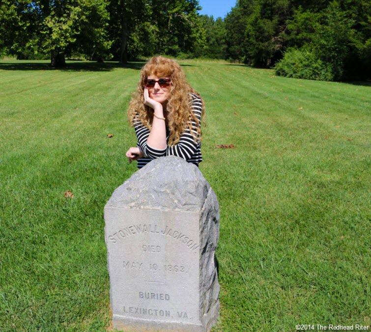 Sherry Redhead Riter at Stonewall Jackson Memorial In Guinea, Virginia