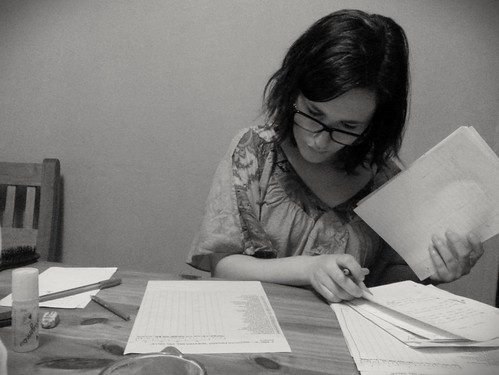 Ana trabajando
