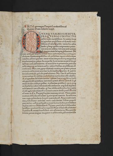 Penwork initial in Cicero, Marcus Tullius: Orationes
