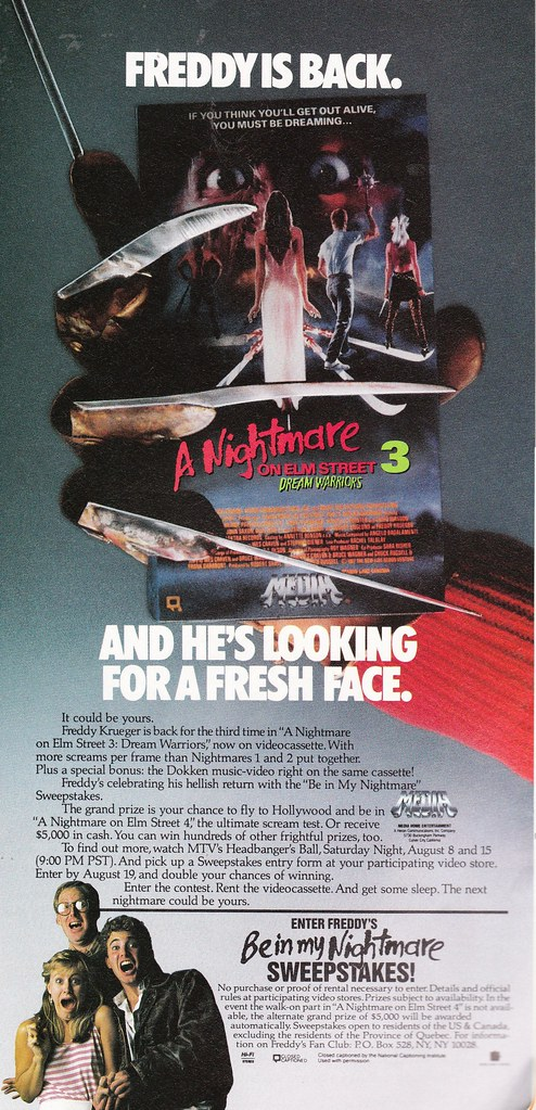 Nightmare on Elm Street 3 ad