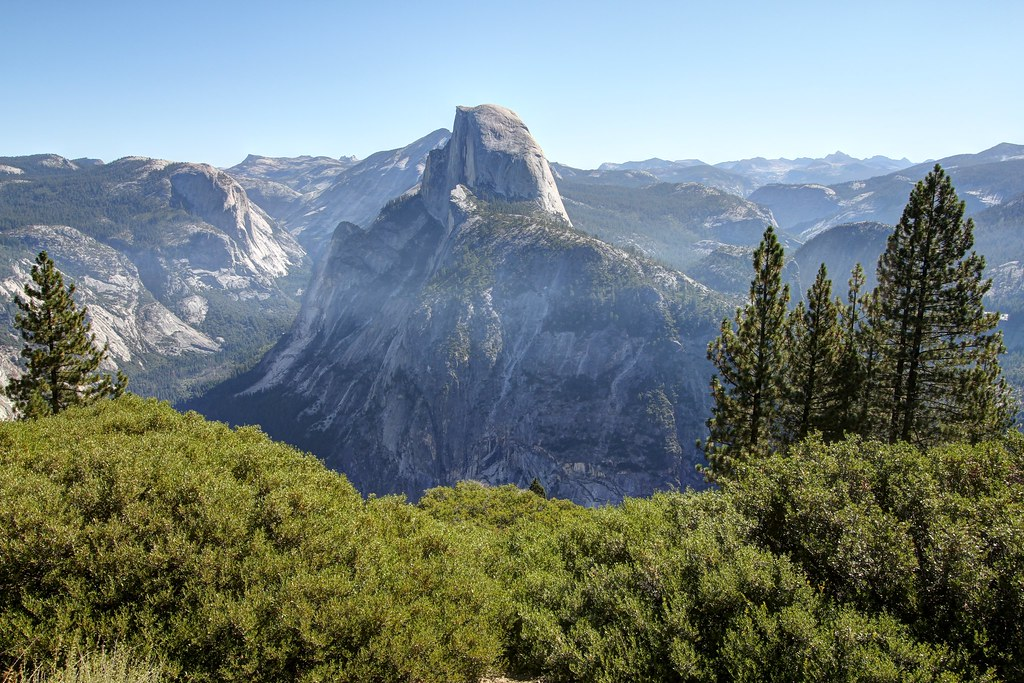 Half Dome seen from Sentinel Dome