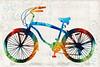 Colorful Bike Art - Free Spirit - By Sharon Cummings