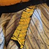 Shoulder seam. You can see the tucks in the yellow silk in the yoke. #victorian #antiqueclothing