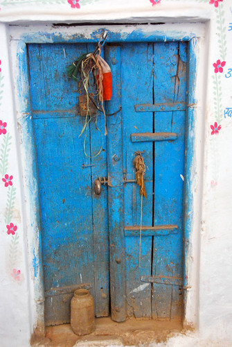 Blue Door in Udaipur, India