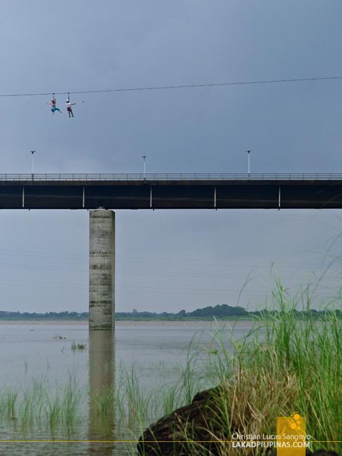 Zipline Across the New Banaoang Bridge in Ilocos Sur